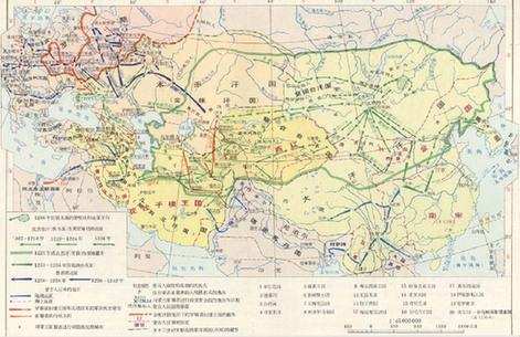 蒙古帝国版图