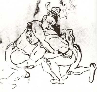 力士的角抵对决 ZG摔跤史话-武?勇士们的体育大舞台